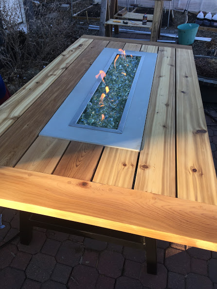 Outdoor Fire Table – Final Wrap-Up