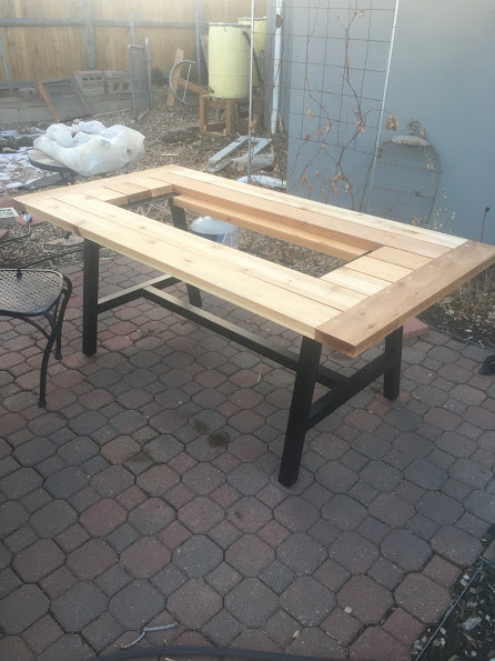 Fire Table – Wood Table Top Assembly